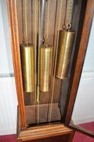 Light Honey Coloured Oak Glass Fronted Grandfather or Grandmother with British  8 Day Triple Weight Quarter Chiming Westminster Musical Longcase (6 of 9)