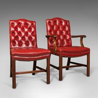 Set Of 10 Antique Gainsborough Chairs, English, Leather, Carver, Edwardian, 1910 (2 of 12)