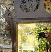 Good Large Georgian Mahogany Fretwork Gilt Mirror (6 of 7)