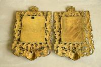 Pair of Brass Wall Mirrors (2 of 10)
