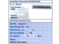 1.12ct Sapphire & 1.78ct Diamond, 12ct Yellow Gold & Palladium Bar Brooch c.1930 (8 of 9)