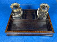 Victorian Rosewood & Tunbridge Ware Inkstand by Thomas Barton (6 of 24)