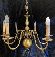 Six Light Dutch Pendant Chandelier
