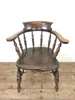 Antique Beech & Elm Smoker's Bow Armchair (2 of 9)