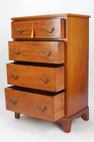 Tall Edwardian Mahogany & Inlaid Chest of Drawers (4 of 13)