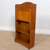 Edwardian Slim Oak Writing Bureau Arts & Crafts (2 of 9)