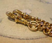 Victorian Pocket Watch Chain 1890s Antique 12ct Rose Gold Filled Albert With T Bar (11 of 12)
