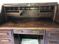 Original Edwardian Globe Wernicke Oak Roll Top Desk (7 of 13)