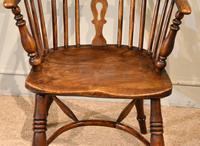 Mid 19th Century Ash & Elm High Back Windsor Armchair (6 of 7)