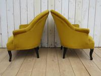 Pair of Antique Napoleon III Armchairs for re-upholstery (5 of 9)