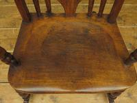 Antique Country Oak Rocking Chair with Nicely Aged Patina (3 of 14)