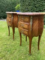 Pair of Marquetry Bedside Tables (6 of 8)
