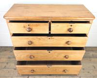 Victorian Antique Pine Chest of Drawers (3 of 10)