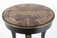 Early 19th Century Ebonised Guéridon Table with Onyx Top