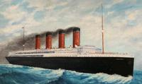 Huge Stunning Antique Seascape Oil Painting of Cunard's RMS Lusitania Ship c.1918 (14 of 16)