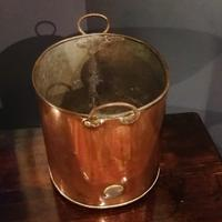 Antique Copper Coal Bucket of Oval Form with Handles (2 of 7)