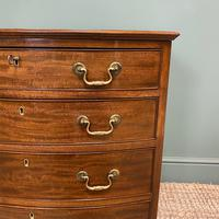 Small Quality Edwardian Mahogany Antique Bow Fronted Chest of Drawers (5 of 7)