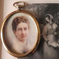 Edwardian Miniature Portrait 1907 by Mrs Gibbs of Boston USA