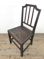 Pair of Antique Carved Oak Hall Chairs (10 of 13)
