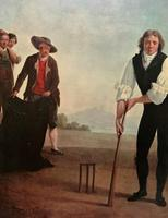 Large Fine Quality Vintage Cricket Cricketing Print - 18thc Georgian Manner (9 of 13)