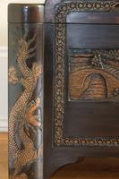 Chinese relief carved camphorwood coffer with an ebonised finish (12 of 23)