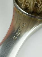 Antique Sterling Silver Hallmarked Green Guilloche Enamel Backed Brush 1928, Henry Matthews (5 of 8)