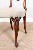 4 Walnut Balloon Dining Chairs 19th Century (6 of 12)