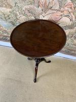 Small Georgian Mahogany Tilt Top Lamp Table (6 of 6)