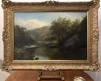 George Henry Jenkins 'A Devon River Landscape' Oil on Canvas Painting (5 of 12)