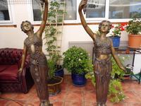 2 Bronze Art Nouveau Style Lamps (9 of 12)