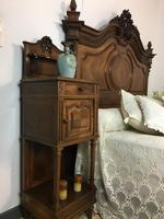 Antique French Stunning Huge Oak Bed Frame & Pot Cupboard (15 of 16)