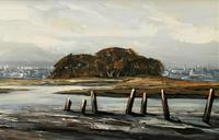 Edward Elliot (1850-1916) Superb Vintage Fishing Estuary Landscape Oil Painting (5 of 12)