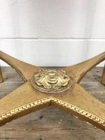 Gold Gilt Table with Circular Onyx Top (9 of 11)