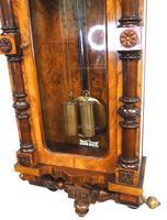 Rare Impressive Antique Burr Walnut 8-Day Twin Weight Striking Vienna Regulator Wall Clock by Gustav Becker (9 of 13)