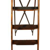 Edwardian Oak Library Ladders (3 of 7)