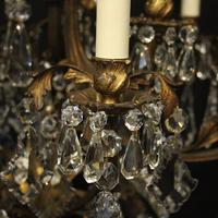 French Gilded Bronze Birdcage Crystal Chandelier (4 of 10)