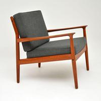 Pair of Danish Teak Vintage Armchairs by Grete Jalk (8 of 11)