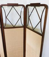 Edwardian Inlaid Mahogany Screen (8 of 13)