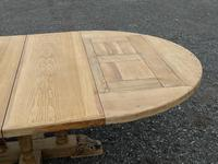 Large Round French Bleached Oak Farmhouse Table with Extensions (37 of 38)