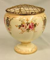 Antique Crown Devon Fieldings Jardiniere Rose Bowl (5 of 9)