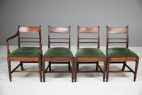 4 Antique Georgian Mahogany Dining Chairs (2 of 12)