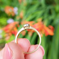 Antique 18ct Gold Diamond Solitaire Ring, Old Cut Engagement Ring (4 of 6)