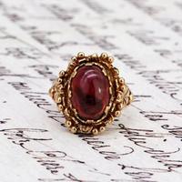 The Vintage Ornate Set Cabochon Ring (2 of 6)