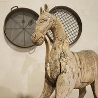 Large 19th Century Carved Indian Horse - Original Paint (8 of 14)