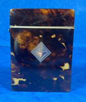 Victorian Tortoiseshell Card Case With Silver Inlay (11 of 13)