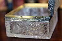 Extremely Attractive & Very Finely Cut Crystal Glass Box (6 of 6)