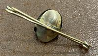 Scarab Beetle Yellow Metal Bar Brooch (3 of 3)