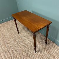 Elegant Victorian Mahogany Antique Side Stretcher Table (6 of 7)