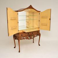 Antique Burr Walnut  Cocktail  Drinks Cabinet (3 of 13)