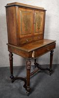 19th Century French Rosewood & Brass Inlaid Bonheur Du Jour (12 of 12)